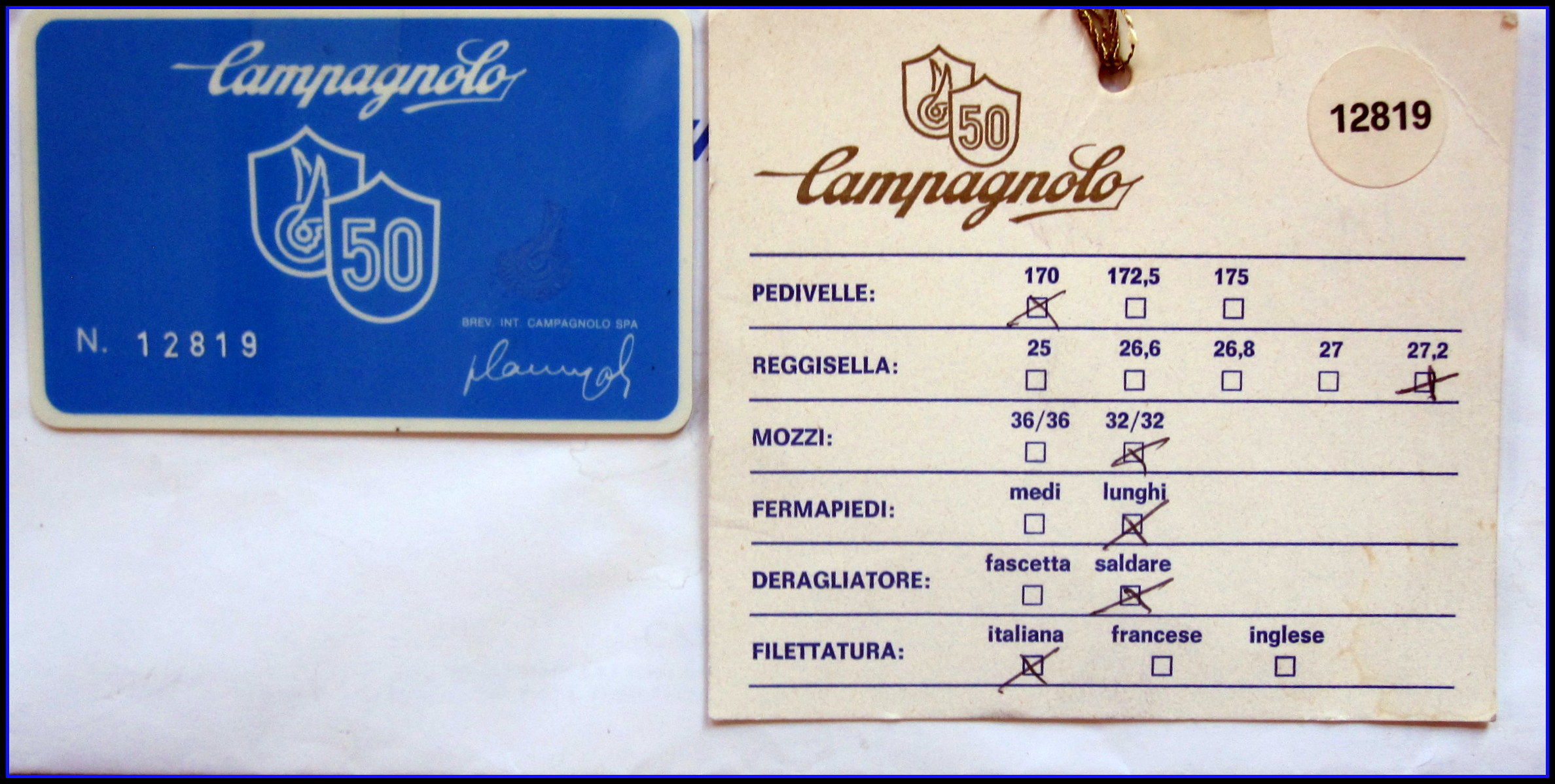 Vintage Campagnolo Record 50th Anniversary group