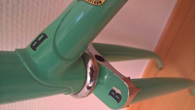retro steel bicycle frame Bianchi Specialissima